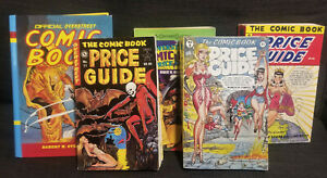 Overstreet Comic Price Guides #8, 11, 14, 25, 33 one hardcover '78, '81, '84
