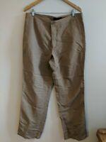 Kennith Cole Linen Trousers Large <KK282