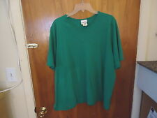 "Womens Bon Worth Size 2x Green Top "" GREAT FOR AROUND THE HOUSE,YARD WORK,ETC."