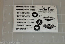 GI Joe Night Storm Glow in the Dark Sticker Decal Sheet