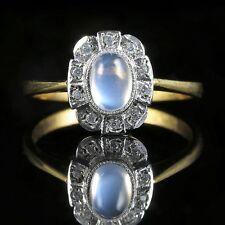 Moonstone incollare Anello argento oro