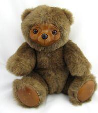 Vintage Wood Plush Teddy Bear Robert Raikes Sherwood Applause 1985 Wooden Face