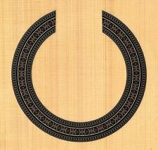 CLASSICAL,GUITAR  ROSETTE,SOUND HOLE, WATERSLIDE DECAL/STICKER HB-337
