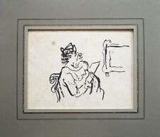 Original William Gropper (NY 1897-1977) Ink Study for 'The Art Patron""