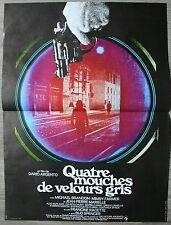 QUATRE MOUCHES DE VELOURS GRIS Affiche Cinéma / Movie Poster DARIO ARGENTO
