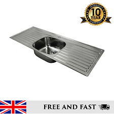 Double Drainer Stainless Steel Inset Kitchen Sink 1 or Twin Tap Holes
