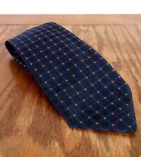 "Nwt new Prada Men's Thick Silk Navy Geometric Tie Made in Italy 57"" 3.75"""