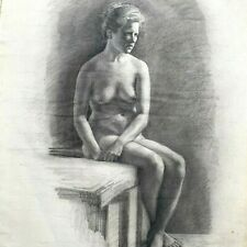 Academic Drawing, Nude woman, 1902, Elisabeth BREHMER, Sweden