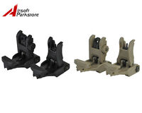 Tactical Flip-Up BackUp Front and Rear Sight Set for Rifle Gun 20mm Rail Hunting