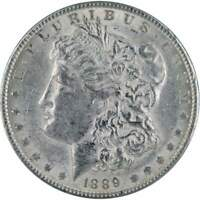 1889 Morgan Dollar AU About Uncirculated 90% Silver $1 US Coin Collectible