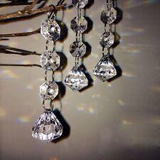 10pcs Wedding DIY Crystal Strand Clear Acrylic Bead Garland Hanging Party Decor