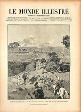 Expédition de Madagascar Convoi de Soldats à Tsarasaotra 1895 ILLUSTRATION