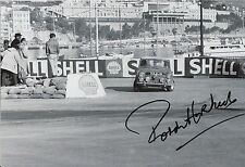 Paddy Hopkirk Hand Signed 12x8 Photo Mini Cooper Rally 21.
