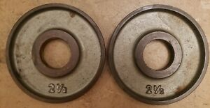IVANKO OM Olympic Machined M Series TWO 2.5lb weight plates pounds gym 5lb total