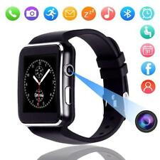 X6 Curved Screen Bluetooth Smart Watch Phone Mate Samsung/iPhone/Android/iOS Lot