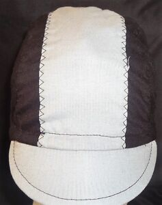 CYCLING CAP ONE SIZE COLOR BLACK & GRAY   100% COTTON