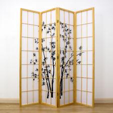 Zen Garden Room Divider Screen Natural 4 Panel