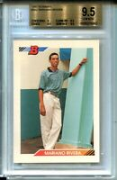 1992 Bowman Baseball 302 Mariano Rivera Rookie Card RC Graded BGS Gem Mint 9.5