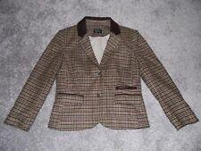 Impresionante señoras Topshop De Tweed Chaqueta Parche De Codo UK 12 euro 40 US 8 Abrigo
