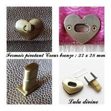 Fermoir pivotant Ovale Tourniquet de sac / Pochette / Porte-feuille Coeur Bronze