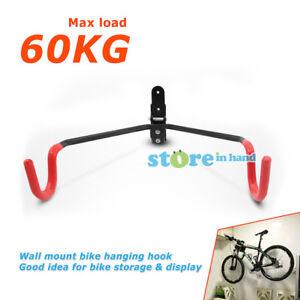 Bike Hook Bicycle Hanger Wall Mounted Garage Storage Rack Mount Steel