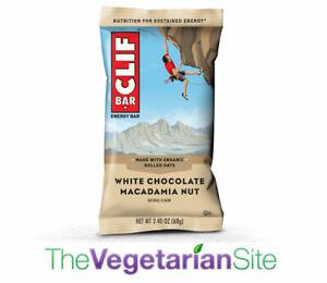 12-PACK Clif Bar White Chocolate Macadamia - 8/31/2021 - FREE PRIORITY MAIL