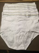 Men's Stafford Briefs Size 48 White Lot Of 6 New