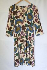 Boden button front Dress Size 12 1940s summer garden party wedding Floral