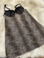 Animal print padded underwired Camisole Top sleepwear nightwear size it2b us32b