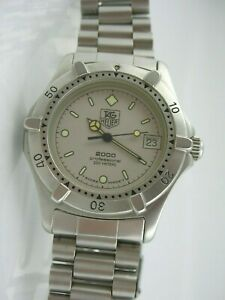 TAG HEUER 2000 professional 200m,middle case diver, GRAY dial CARL LEWIS