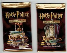 Harry Potter Diagon Alley Booster Pack 2 Pack Lot
