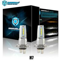 H7 LED Headlight Bulbs Conversion Kit High Low Beam 55W 8000LM 6000K White