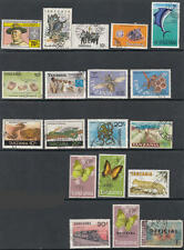 Tanzania used hi val selection 18 diff stamps cv $45.30