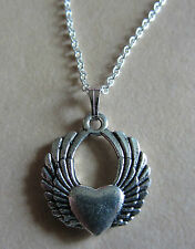 """18"""" Sterling Silver 925 Link Chain Heart Charm Pendant Necklace"""