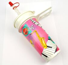 Coca-Cola Coke 0,5 l Vasos Tumbler+Cubierta Pajita para beber Música Motivo rosa