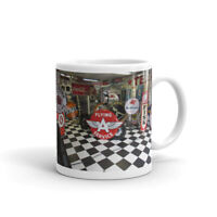 Petroliana Gasoline Oil Advertising Signs Coffee Mug
