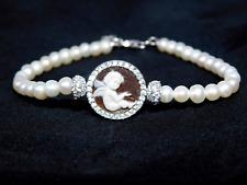 Bracciale Cammeo Angelo mm 12 perle coltivate xF in Argento 925 WebStore Corallo