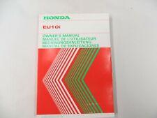 Honda Generator EU10i Owner's Instruction Manual Book Genuine  36ZT3600