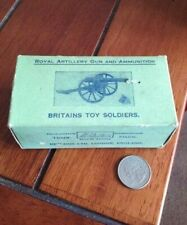 Vintage Britains Toy Soldiers Royal Artillery Gun and Ammunition Cannon BOX 1263