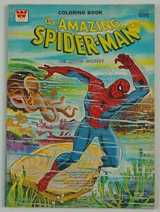 Amazing Spider-Man: The Oyster Mystery coloring book - UNUSED/UNCOLORED 1976