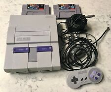 SNES Super Nintendo Video Game System W/ 2 Games & Controller SOLD AS IS