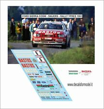 DECALS 1/43 FORD SIERRA COSW SNIJERS RALLY YPRES 1991