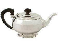 Sterling Silver Teapot - Art Deco Style - Antique George VI