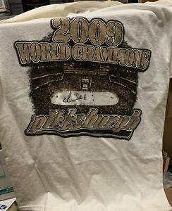 Evgeni Malkin Pittsburgh Penguins Signed Autographed 2009 World Champs T-Shirt