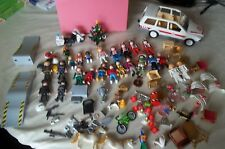 Huge Lot of Playmobil 111 PIECES Victorian & POLICE & KNIGHTS & SKATEBOARD PARK