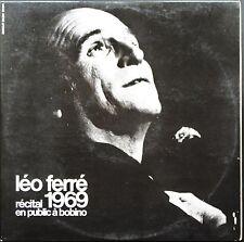LEO FERRE 1969 RECITAL EN PUBLIC A BOBINO DOUBLE LP 33T + LIVRET COMPLET