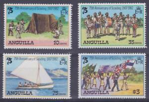 Anguilla 1982 #502-05 Scouting Year (set of 4) - MNH