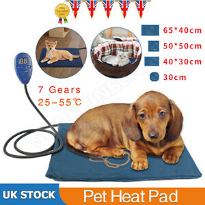 New Pet Heat Pad Puppy Electric Heated Mat Blanket Dog Cat Whelping Bed Mat UK
