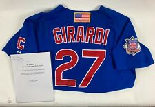 JOE GIRARDI SIGNED GAME USED 2001 CHICAGO CUBS JERSEY