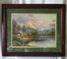 "Thomas Kinkade Limited Edition ""Lakeside Hideaway"" Framed Lithograph #372/570"